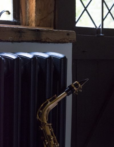 Saxophone by radiator