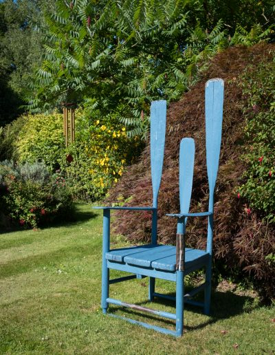 Modern wooden garden chair