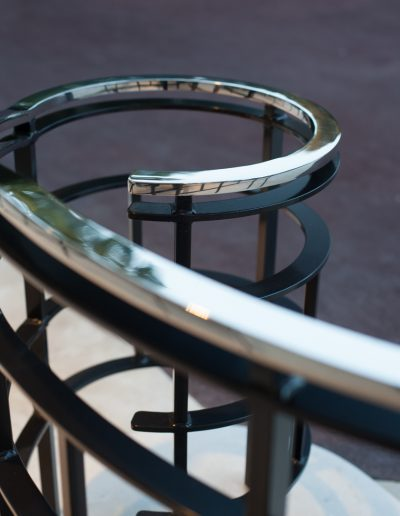 Art Deco Hand Rail with Curvature