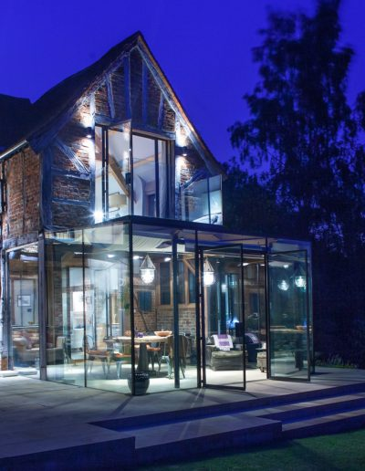Glass country house extension