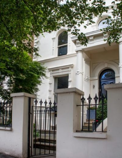 Maida Vale Front Entrance with Iron Railings