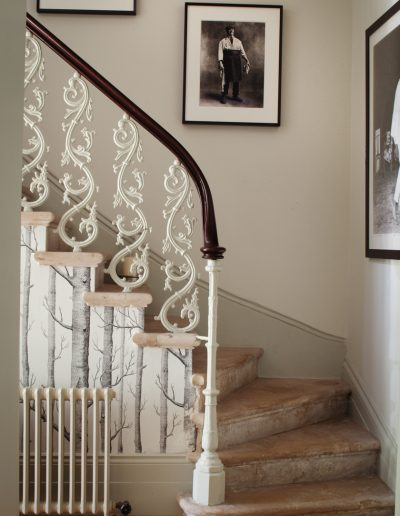 Iron in a Marble stairway