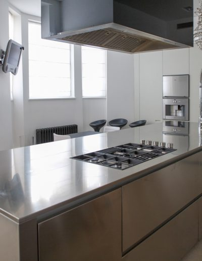 Stainless Steel Kitchen Worktop with Hob