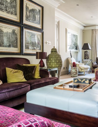luxuriant soft furnishings and artwork