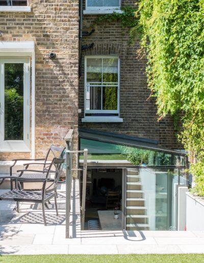 garden view of glass extension