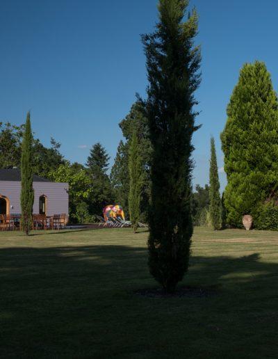Italian style garden with Moorish summer house