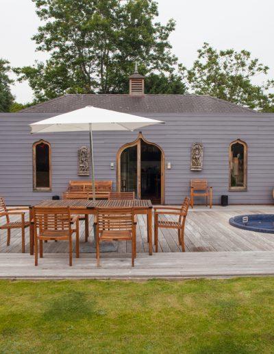 Exterior ofMoorish summer house in day