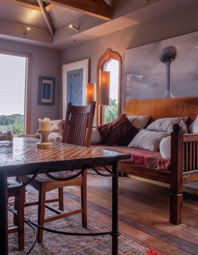 Moorish summer house interior with view