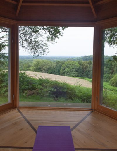 view from yoga room