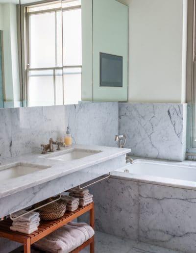 marble bath and basin